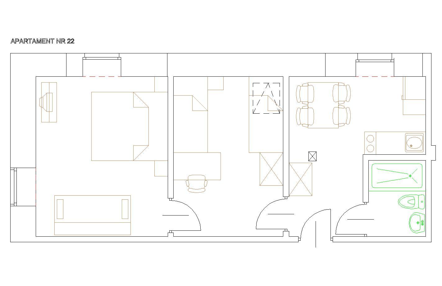 Apartament 2-pokojowy (max. 6os.)