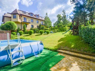 Villa Gorczańska - widok na ogród